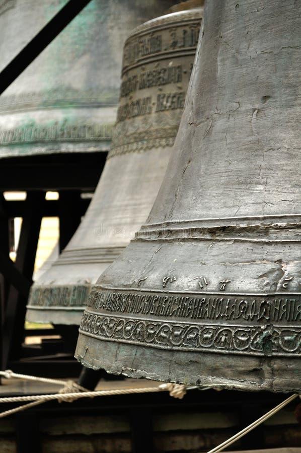 Klokken bij de voet van de klokketoren van StSopfia-Kathedraal royalty-vrije stock fotografie