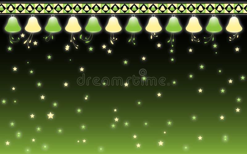 Klokken en kleine sterren stock fotografie