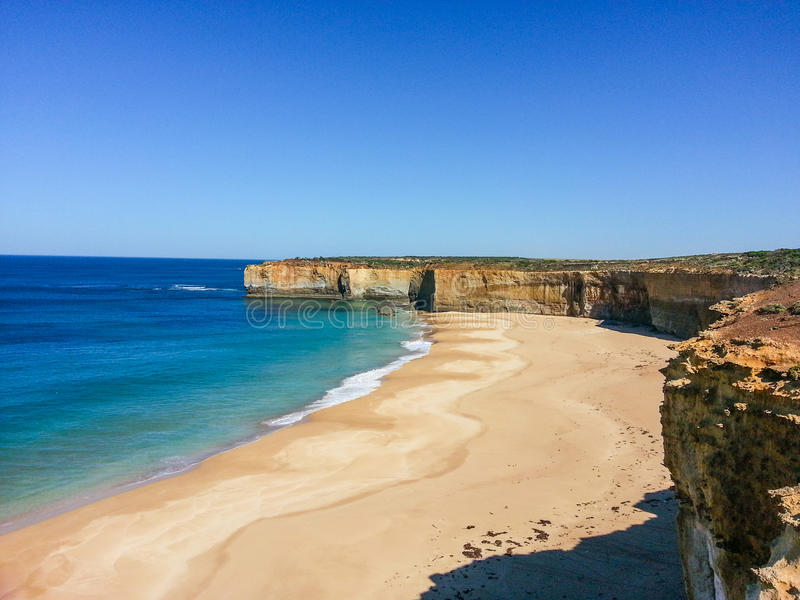 klokken strand Australië royalty-vrije stock afbeeldingen