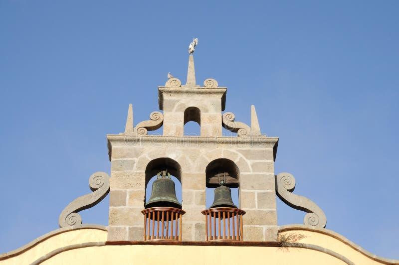 Klokken van de Arona Kerk, Tenerife stock afbeelding