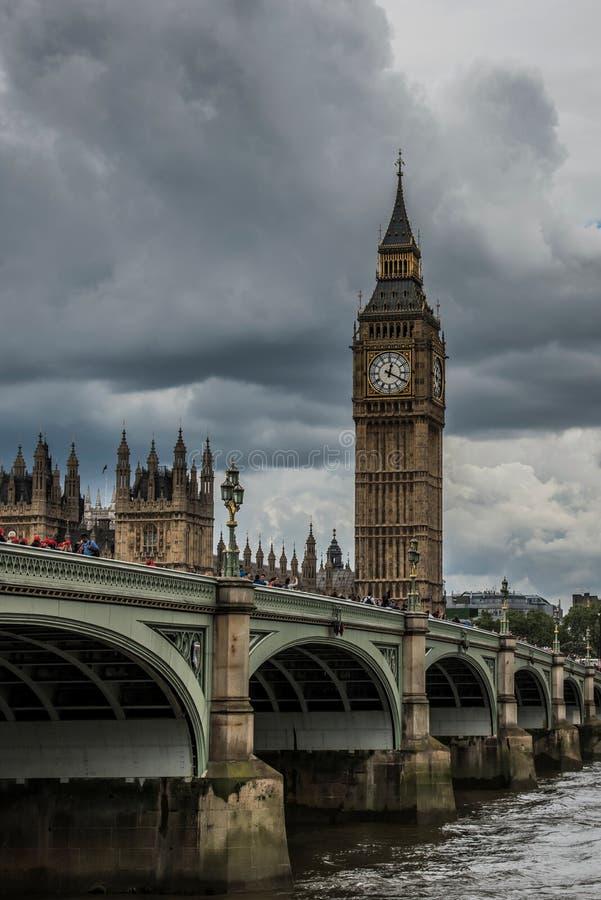 Klokketoren, Big Ben, Londen, het Verenigd Koninkrijk royalty-vrije stock afbeelding