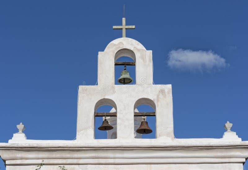 Klokketoren bij San Xavier Mission royalty-vrije stock foto