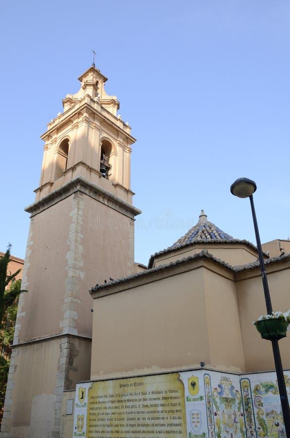 Klokketoren in Castellon royalty-vrije stock fotografie
