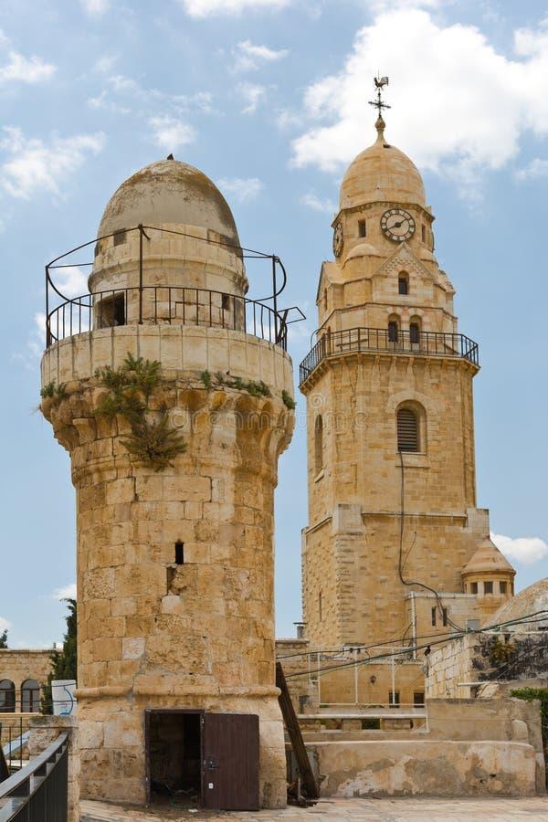 Klokketoren en Minaret royalty-vrije stock fotografie