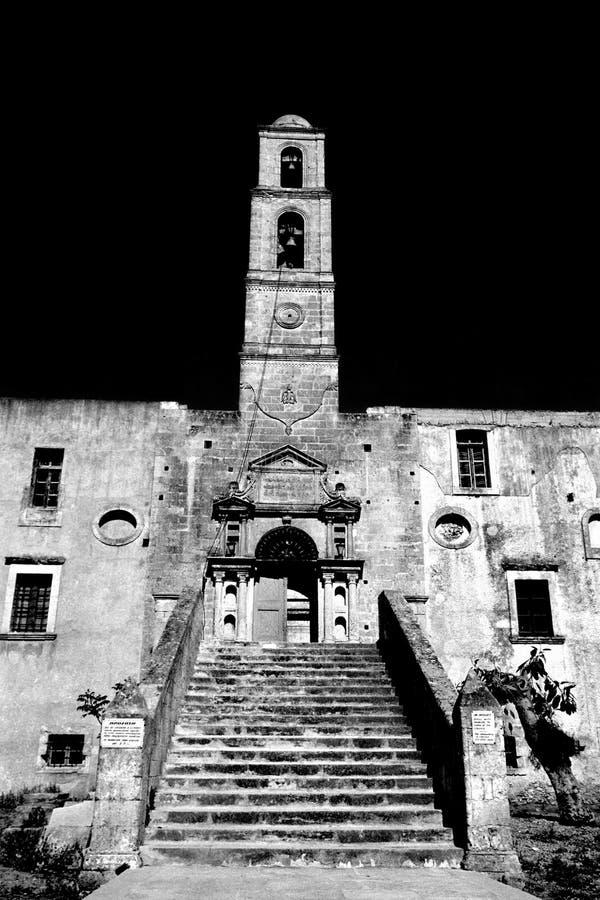 Klokketoren in Kreta royalty-vrije stock foto
