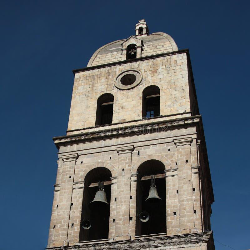 Klokketoren in La paz in Bolivië stock fotografie