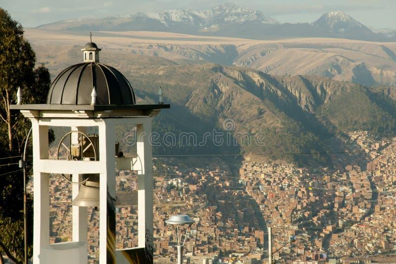 Klokketoren - La Paz - Bolivië royalty-vrije stock afbeelding
