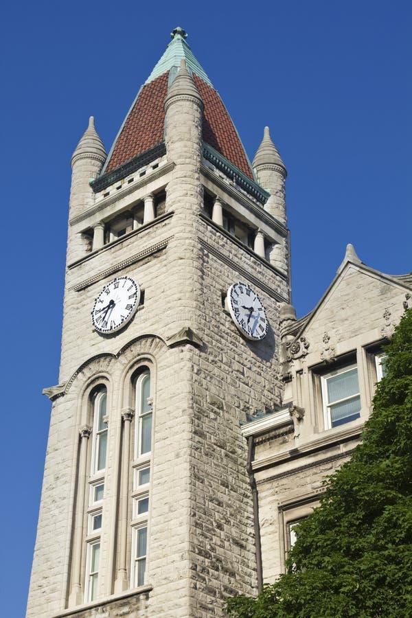 Klokketoren in Louisville royalty-vrije stock afbeeldingen