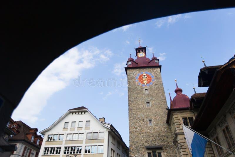 Klokketoren in Luzern royalty-vrije stock foto's