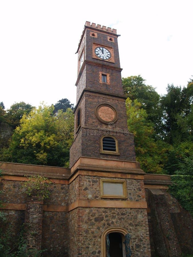 Klokketoren in Malvern Worcestershire royalty-vrije stock afbeelding