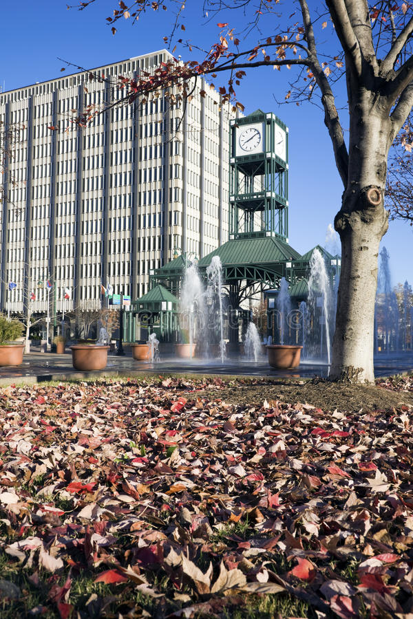 Klokketoren in Memphis royalty-vrije stock afbeelding