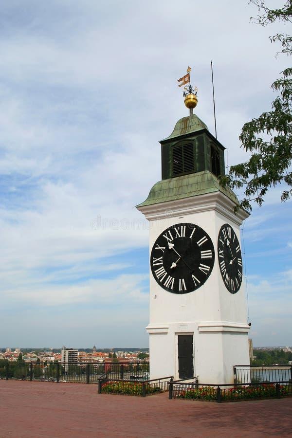 Klokketoren in Novi Sad stock afbeelding
