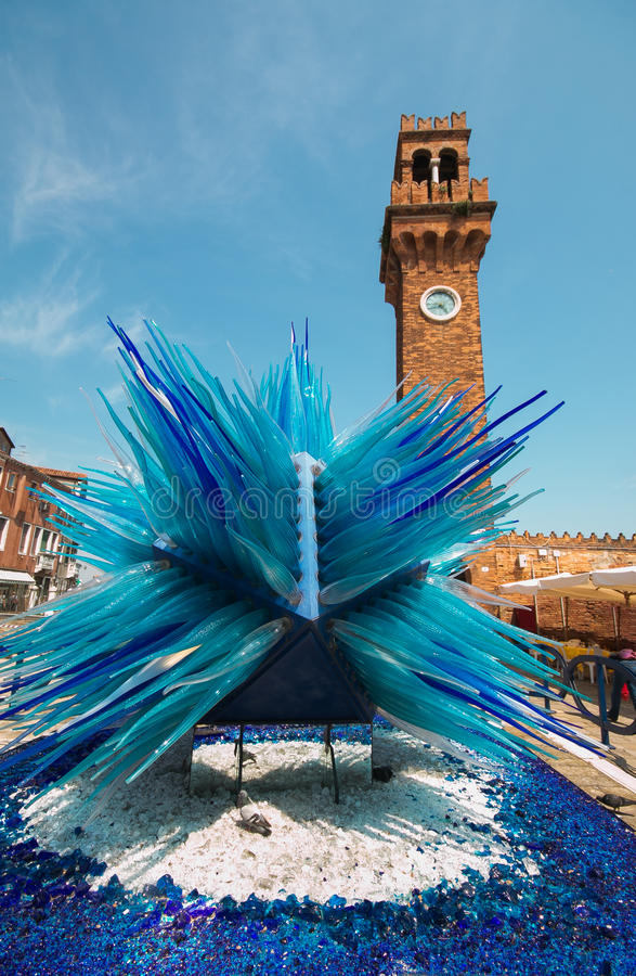 Klokketoren op Murano-eilandijs royalty-vrije stock foto