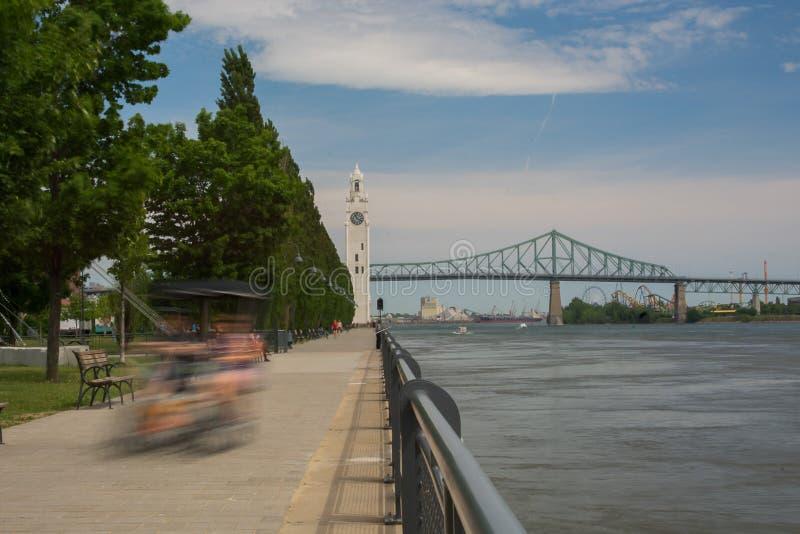 Klokketoren Oude Haven Montreal Canada royalty-vrije stock afbeeldingen