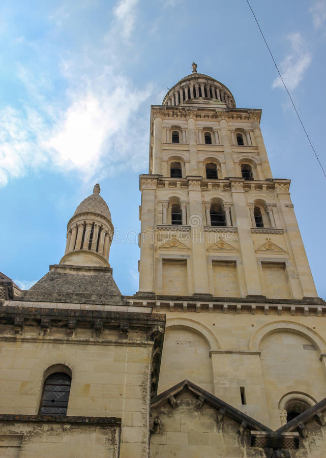Klokketoren, Perigueux-Kathedraal, Frankrijk royalty-vrije stock afbeelding