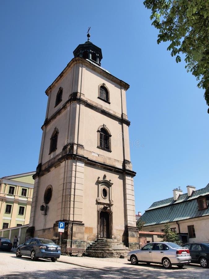 Klokketoren, Sandomierz, Polen stock foto's