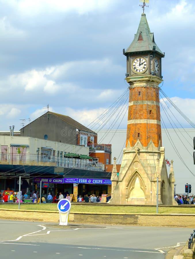 Klokketoren, Skegness, Lincolnshire. stock foto's