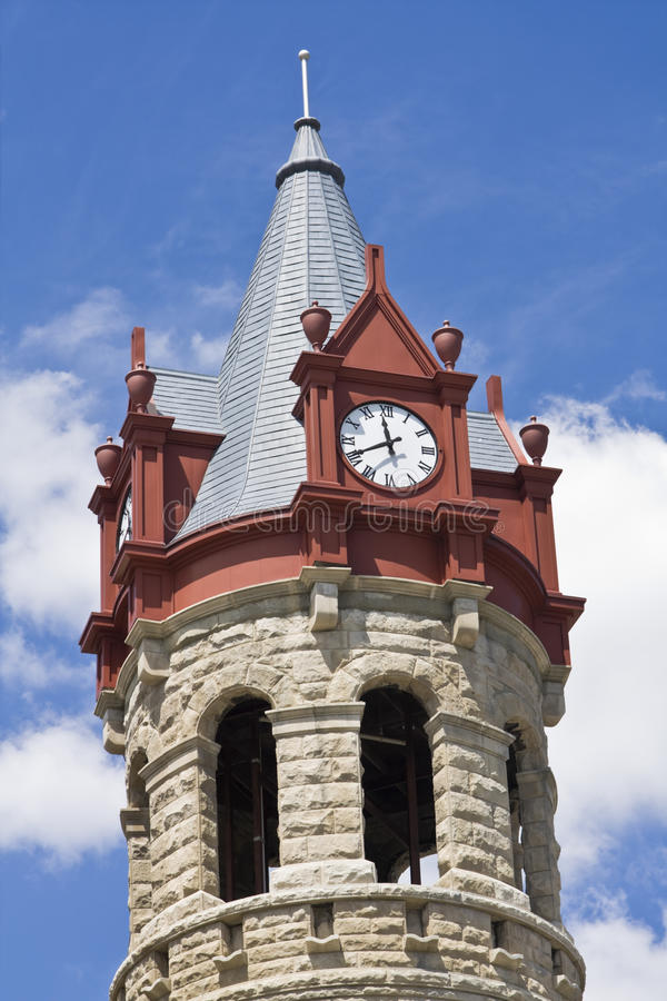 Klokketoren in Stoughton royalty-vrije stock afbeeldingen
