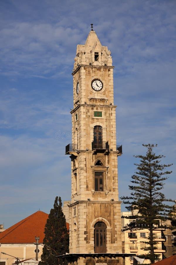 Klokketoren in Tripoli stock afbeelding