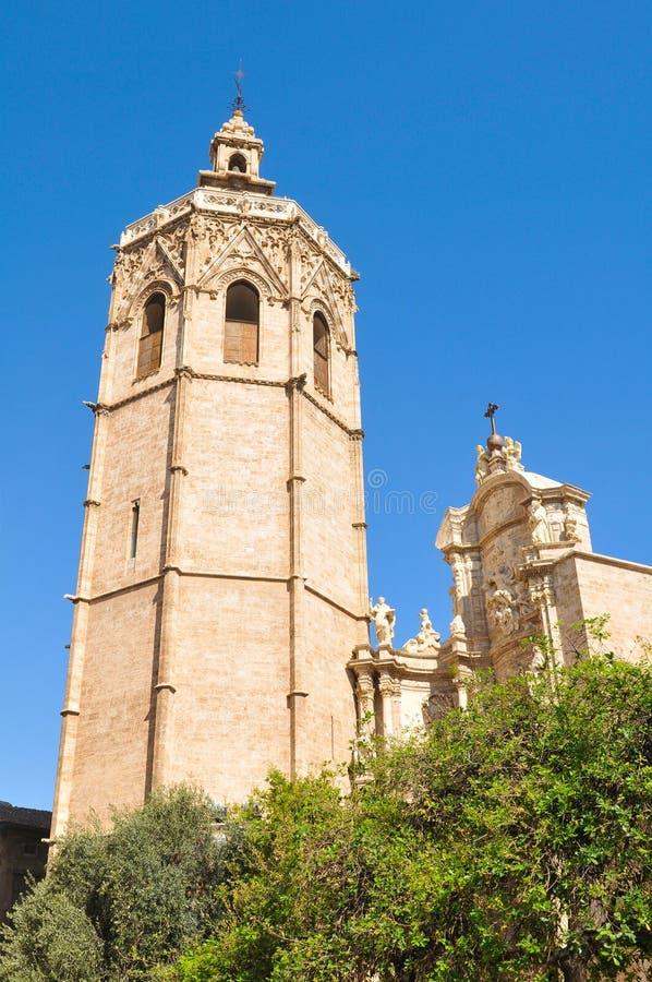 Klokketoren in Valencia, Spanje stock afbeelding