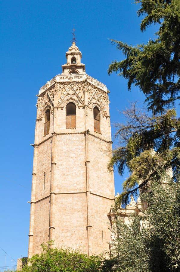 Klokketoren in Valencia, Spanje stock foto's