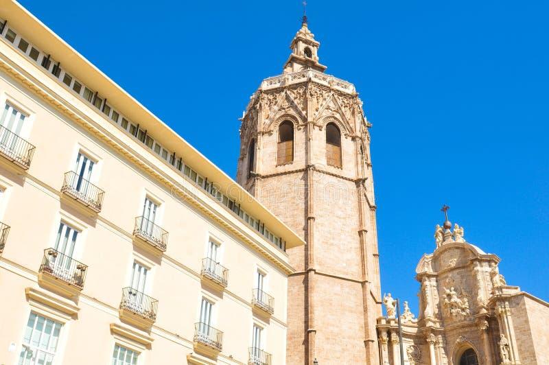Klokketoren in Valencia, Spanje royalty-vrije stock afbeelding