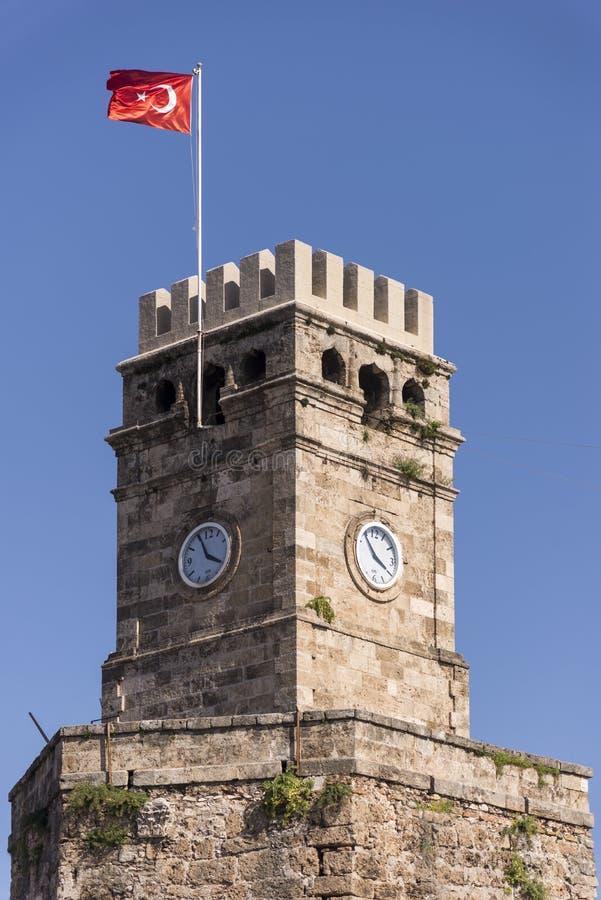 Klokketoren van Antalya stock fotografie