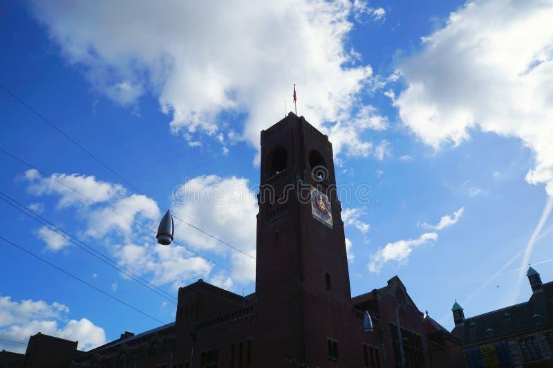 Klokketoren van Beurs van Berlage in Amsterdam royalty-vrije stock afbeeldingen