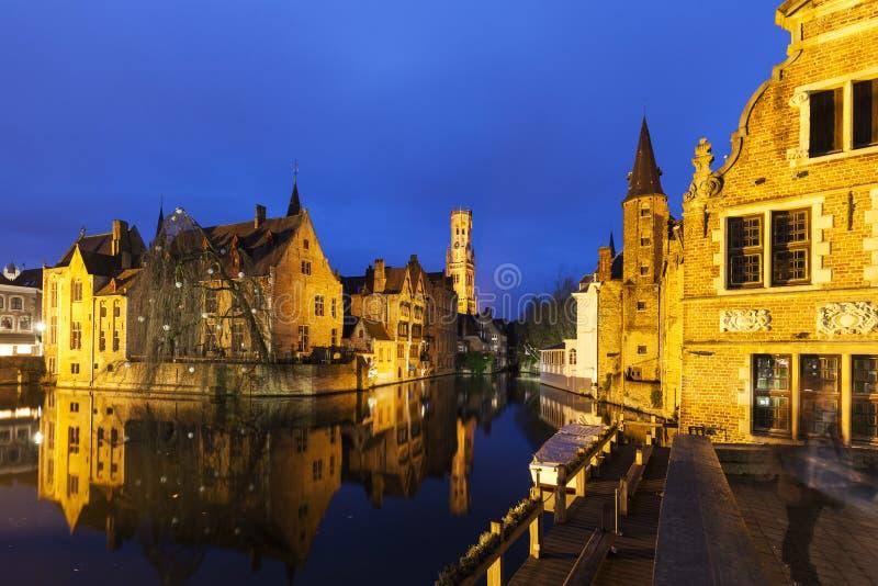Klokketoren van Brugge stock fotografie