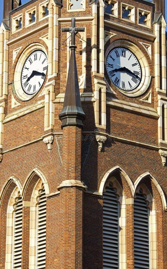 Klokketoren van de kerk royalty-vrije stock afbeelding