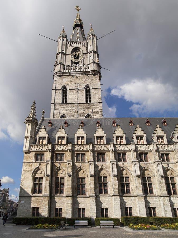 Klokketoren van Gent royalty-vrije stock afbeeldingen