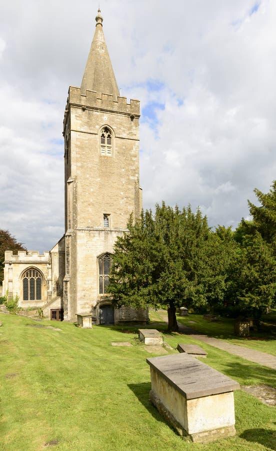 Klokketoren van Heilige Drievuldigheidskerk, Bradford op Avon stock fotografie