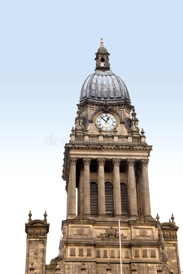 Klokketoren van het Stadhuis van Leeds royalty-vrije stock fotografie