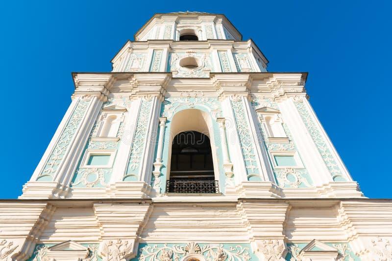 Klokketoren van Sophia van Kiev, die een monument van Oekra?ense architectuur in, Kiev, de Oekra?ne is royalty-vrije stock afbeelding