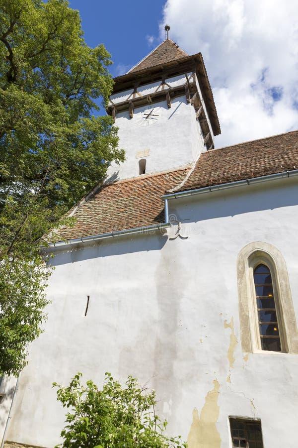 Klokketoren van versterkte kerk van Cincsor royalty-vrije stock fotografie