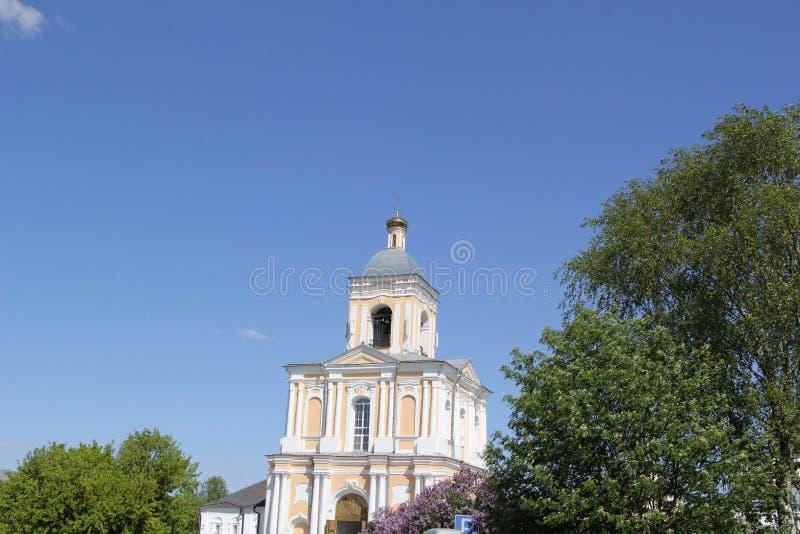 Klokketoren in Velikiy Novgorod stock afbeelding