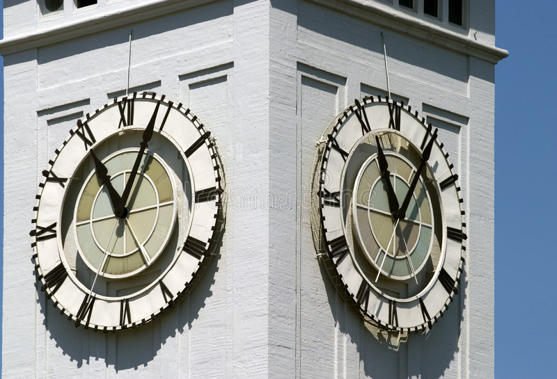 Klokketorendetail stock afbeeldingen