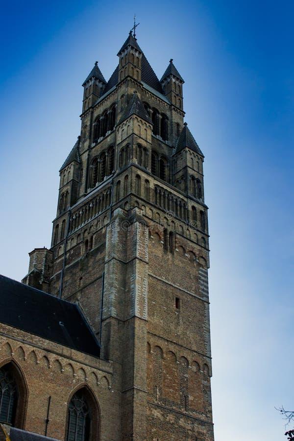 Klokketorentoren - Brugge royalty-vrije stock foto's