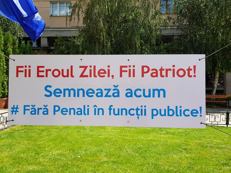 Klokt underteckna in Rumänien arkivbild