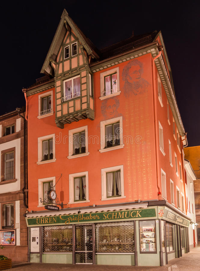 Klokwinkel villingen-Schwenningen Duitsland royalty-vrije stock afbeeldingen