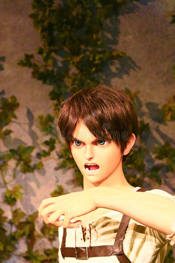 Klon-oid av den Ellen labbet från Shingeki ingen Kyojin royaltyfri fotografi