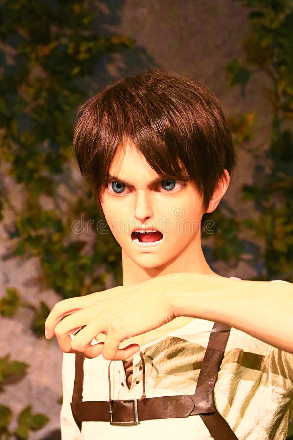 Klon-oid av den Ellen labbet från Shingeki ingen Kyojin arkivfoton