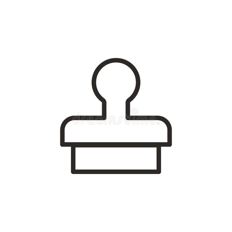 Klon, Presse, Stempelvektorikone Element des Design-Tools f?r bewegliches Konzept und Netz Appsvektor D?nne Linie Ikone f?r stock abbildung