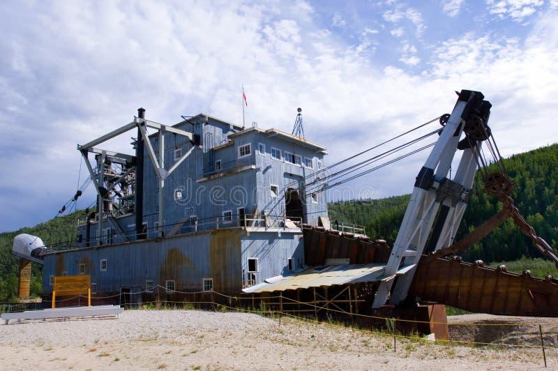 Klondike dredge. Historical dredge on Bonanza creek near Dawson city royalty free stock photography