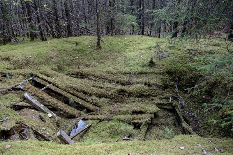 Klondike gold rush Historical park. Skagway Alaska stock image