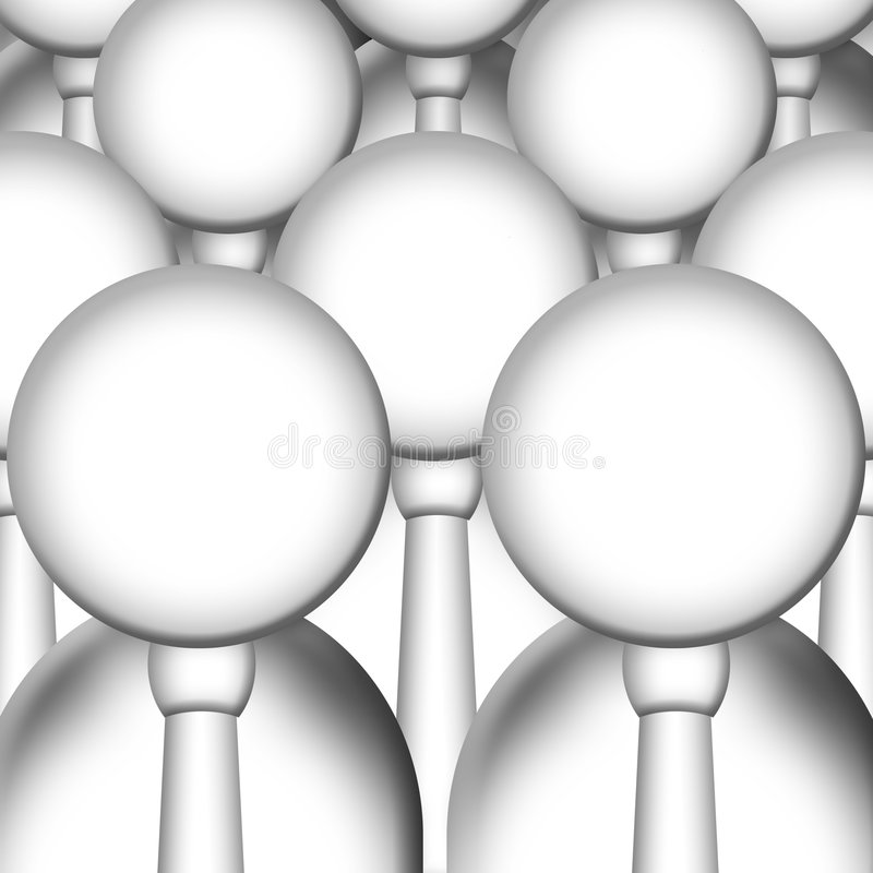 Klonen stock illustratie