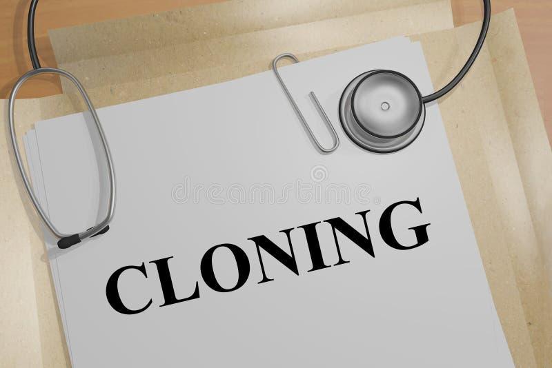 KLONING - medicinskt tillvägagångssätt royaltyfri illustrationer