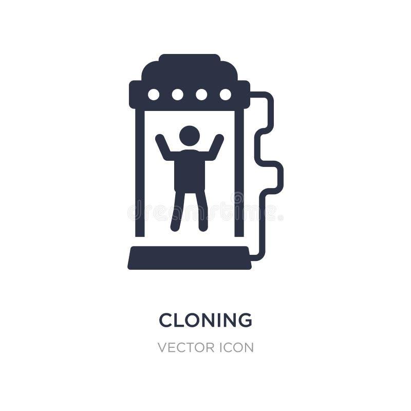 kloningsymbol på vit bakgrund Enkel beståndsdelillustration från det framtida teknologibegreppet vektor illustrationer