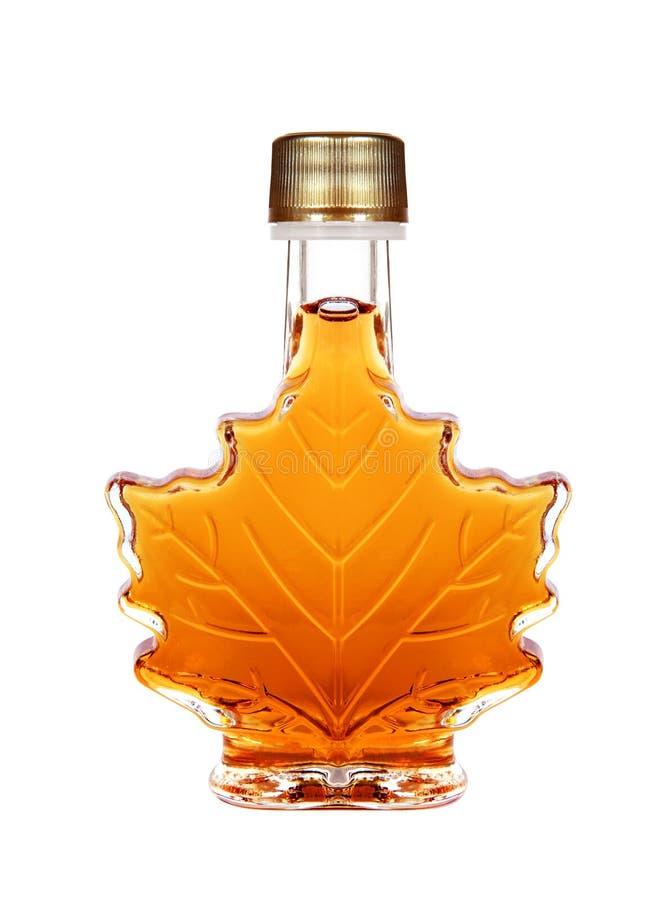 Klonowego syropu butelka zdjęcia stock