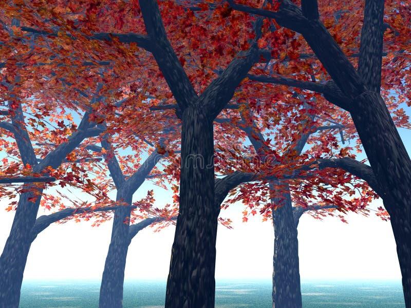 Klonowi Drzewa 3 ilustracja wektor